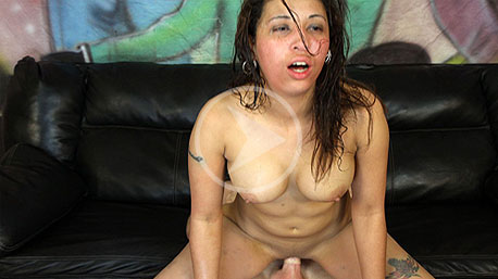 Aaliyah Riding a Cock on Ghetto Gaggers